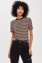 Topshop Stripe Premium Clean T-shirt