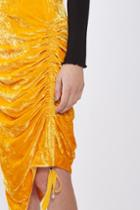 Topshop Velvet Ruched Skirt By Boutique