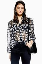 Topshop Eye Print Shirt