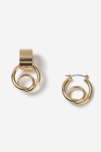 Topshop Asymmetric Loopy Hoop Earrings