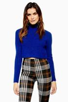Topshop Petite Super Soft Funnel Neck Crop Jumper