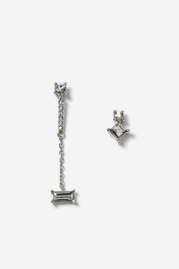 Topshop Mini Chain Asymmetric Earrings