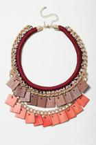 Topshop Square And Rope Necklace