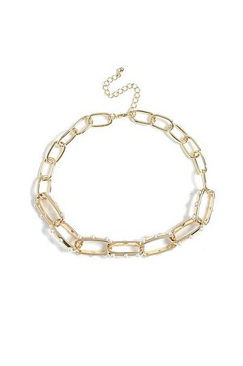 Topshop *pearl Link Necklace