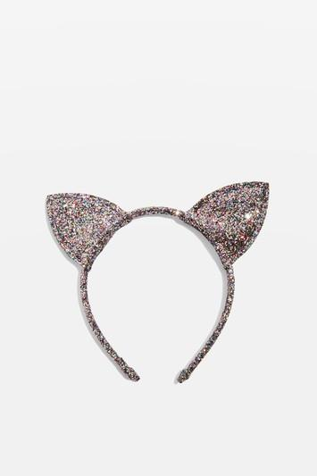 Topshop Glitter Cat Ears Headband