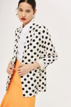 Topshop Linen Spotted Jacket