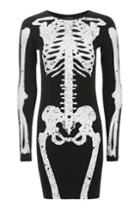 Topshop Skeleton Bodycon Dress