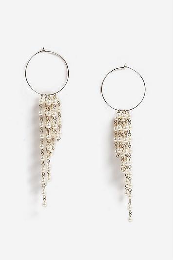 Topshop Hoop And Pearl Drop Earrings