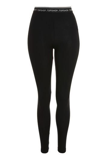 Topshop Dotted Elastic Branded Leggings
