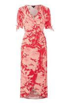 Topshop Oriental Floral Wrap Dress