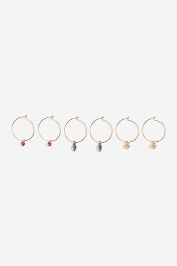 Topshop Mini Charm And Hoop Earrings Pack