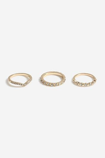 Topshop *crystal Ring Pack
