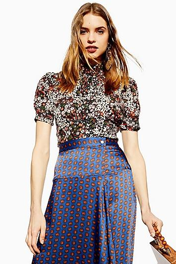 Topshop Cluster Ditsy Blouse