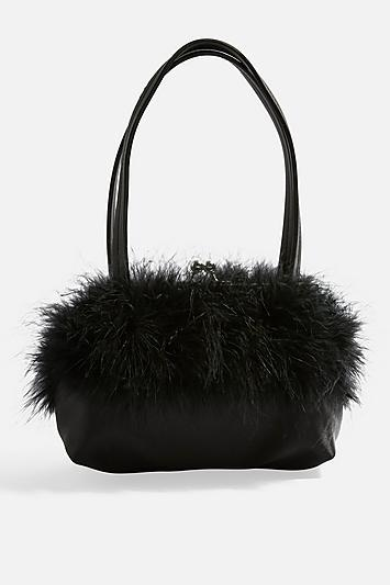 Topshop Birdie Marabou Bag