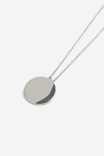 Topshop Freedom Finer Clean Disc Ditsy Necklace