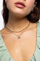 Topshop *cherub Charm Multirow Necklace