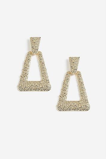Topshop Foil Door Knocker Earrings