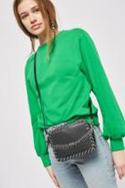 Topshop Rogue Whipstitch Gem Cross-body Bag