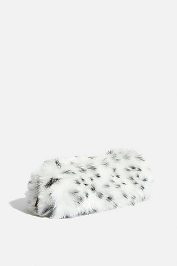 Skinny Dip *dalmatian Faux Fur Makeup Bag By Skinnydip