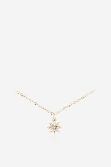 Topshop *gold Star Necklace By Skinnydip
