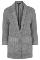Topshop Petite Herringbone Jacket