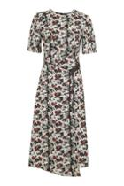 Topshop Scratch Floral Midi Dress