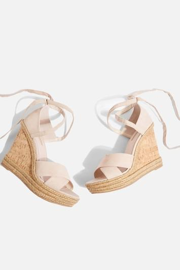 Topshop Cross Strap Wedges