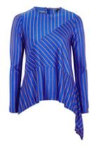 Topshop Cutabout Striped Long Sleeve Top