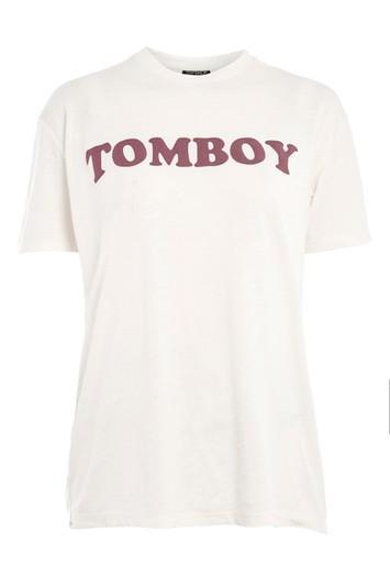 Topshop Petite 'tomboy' Burnout T-shirt