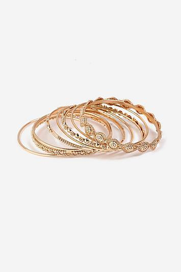 Topshop *engraved Bangle Pack