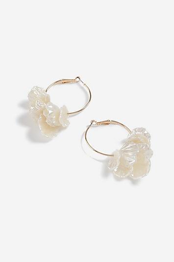 Topshop Petal Hoop Earrings