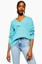 Topshop Wide Ribbed Longline Jumper