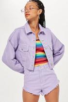 Topshop Lilac Denim Hacked Jacket