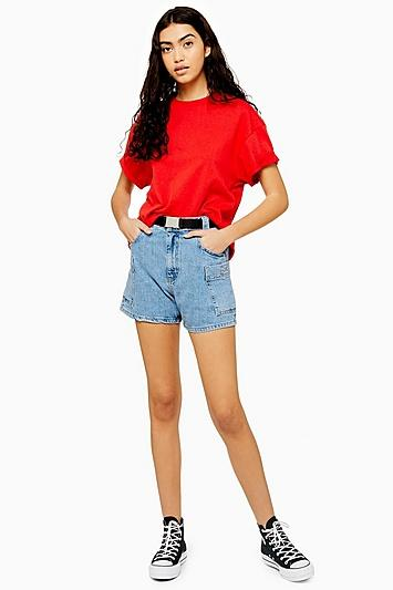 Topshop Utility Belted Shorts
