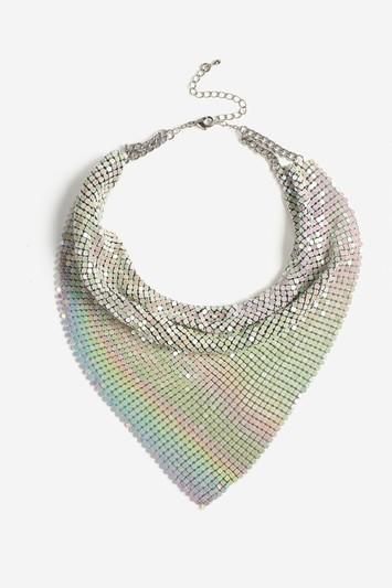 Topshop White Chainmail Scarf Necklace