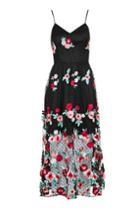 Topshop *floral Crochet Midi Dress By Glamorous