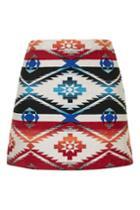 Topshop Printed Jacquard A-line Skirt
