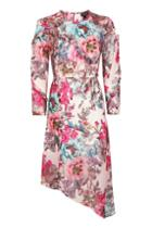 Topshop Ruffle Floral Midi Dress