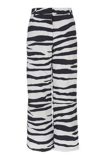 Topshop *zebra Boarder Trouser By Topshop Sno