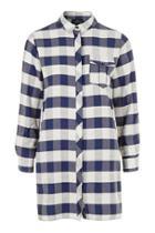 Topshop Petite Gingham Shirt Dress
