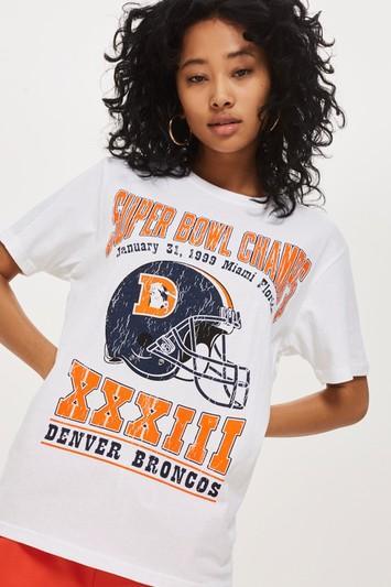 Topshop Bronchos T-shirt By Nfl X Topshop