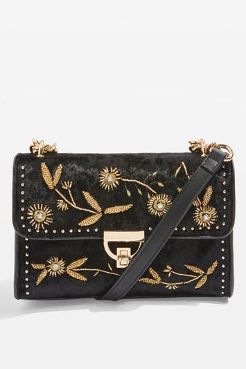 Topshop Beaded Chain Cross Body Bag