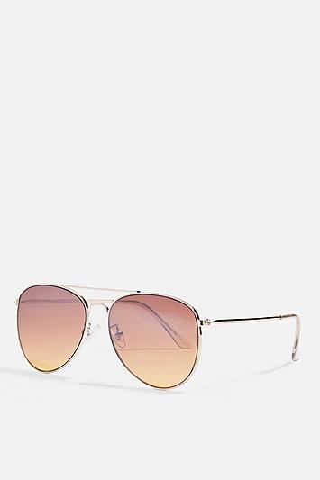 Topshop Ally Pilot Sunglasses