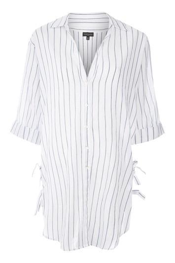 Topshop Striped Beach Shirt