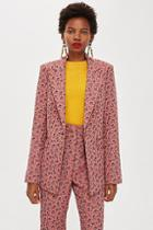 Topshop Floral Jacquard Single Breasted Jacket