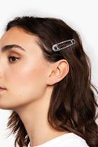 Topshop *rhinestone Safety Pin Hair Slide