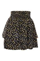 Topshop Tiered Ditsy Print Mini Skirt