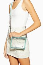 Topshop Cami Clear Tpu Mint Cross Body Bag