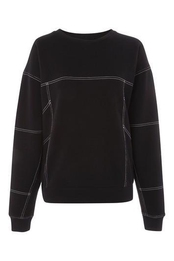 Topshop Petite Stab Stitch Sweatshirt