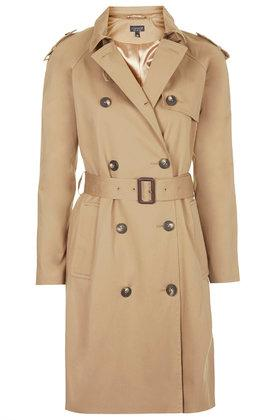 Topshop Cotton Trench Coat